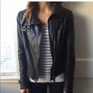 All saints leather Belvedere Jacket size 2 xs